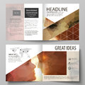 Business templates for square design bi fold brochure, flyer, booklet. Leaflet cover, abstract vector layout. Romantic