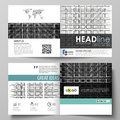 Business templates for square design bi fold brochure, magazine, flyer. Leaflet cover, vector layout. Abstract infinity