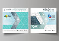 Business templates for square design brochure, flyer, report. Leaflet cover, abstract vector layout. Chemistry pattern