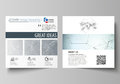Business templates for square design brochure, magazine, flyer, booklet or report. Leaflet cover, vector layout