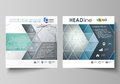 Business templates for square design brochure, magazine, flyer. Leaflet cover, vector layout. Genetic and chemical