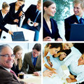 Business theme collage Stock Photos