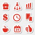 Business theme icons illustration Royalty Free Stock Photos