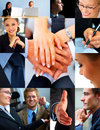 Business themed collage Royalty Free Stock Photos