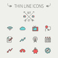Business thin line icon Royalty Free Stock Photo