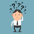 Business thinking with question marks illustration Royalty Free Stock Images