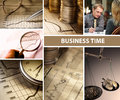 Business time collage Royalty Free Stock Photo