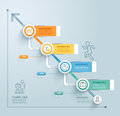 Business timeline info graphic template. Vector illustration. Royalty Free Stock Photo