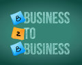 Business to business b b board illustration design over white Royalty Free Stock Image