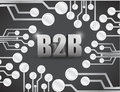 Business to business circuit boards illustration design over a black background Stock Photos