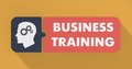 Business Training Concept in Flat Design. Royalty Free Stock Photography
