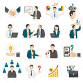 .Business Training  Consulting Service Icons Set. Royalty Free Stock Photo
