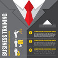 Business training - infographic vector illustration. Business man - infographic vector concept. Office suits infographic concept. Royalty Free Stock Photo