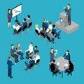 Business Training Isometric Set Royalty Free Stock Photo