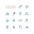 Business Training - Thin Single Line Icons Set