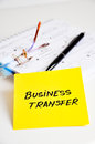 Business transfer concept white background Stock Image