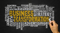 Business transformation word cloud Royalty Free Stock Photo