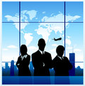 Business travel background Stock Photography