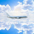 Business travel in the clouds Royalty Free Stock Photography