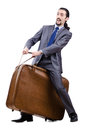 Business travel concept - businessman Royalty Free Stock Images