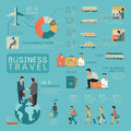 Business travel infographics Royalty Free Stock Photo