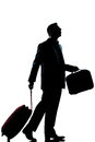 Business traveler man  lost looking up Royalty Free Stock Photo