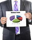 Business trends concept with man and chart Royalty Free Stock Images