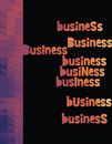 Business triangle colorful vector dark background Royalty Free Stock Image