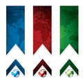 Business vector banner global concept red green blue Royalty Free Stock Photos