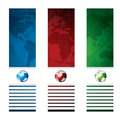 Business vector banner global concept red green blue Stock Photos