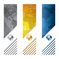 Business vector banner global concept silver golden blue Royalty Free Stock Photo