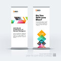 Business vector set of modern roll Up Banner stand design templa