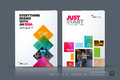 Business vector template. Brochure layout, cover modern design a