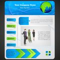 Business web designing vector illustration of design for website Stock Photo