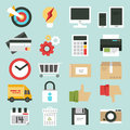 Business web icons set commerce minimal design Stock Photo