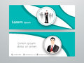 Business website header or banner set. Royalty Free Stock Photo