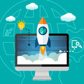 Business Website Launch StartUp, Content Development and Maintenance Royalty Free Stock Photo