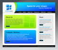 Business website template Royalty Free Stock Images