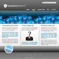 Business website template Royalty Free Stock Photography