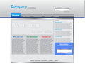 Business website template blue Royalty Free Stock Images