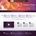 Business website template for in editable vector Royalty Free Stock Images