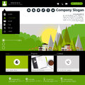 Business website template for in editable vector Stock Photos