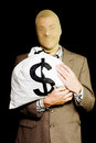 Business or white-collar thief Stock Image