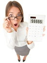 Business woman accountant shocked Royalty Free Stock Photography