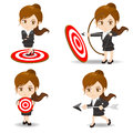 Business woman archery target