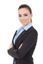 Business woman arms crossed Stock Images