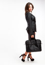 Business woman with briefcase Royalty Free Stock Photo