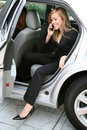 Business Woman and Car Stock Image