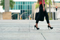 Business woman commuting going to office by walk Royalty Free Stock Photo