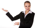 Business woman with depostration gesture Stock Photos